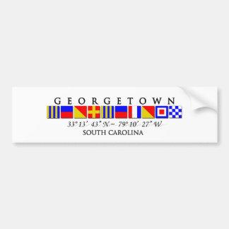 Georgetown SC Signal Flag Bumper Sticker