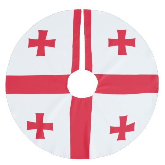 Georgia Flag Brushed Polyester Tree Skirt