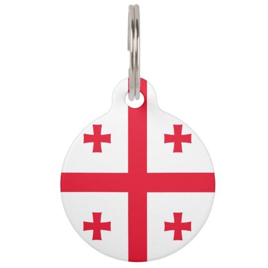 Georgia Flag Pet ID Tags