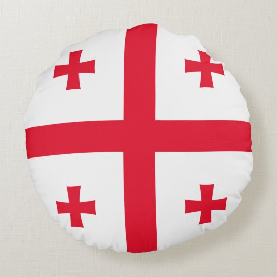 Georgia Flag Round Cushion