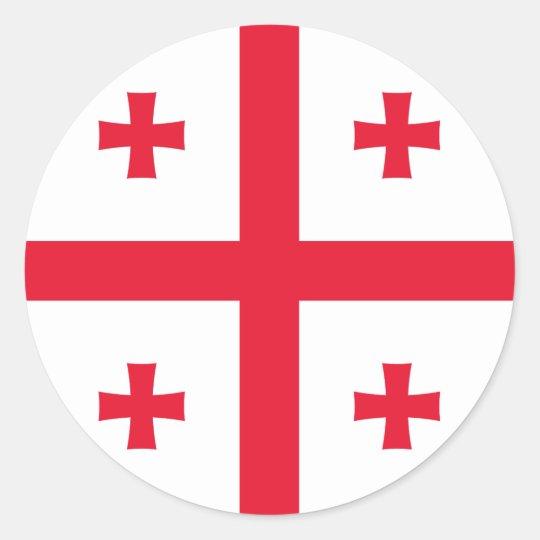 Georgia Flag Round Sticker