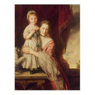 Georgiana, Countess Spencer with Lady Postcard