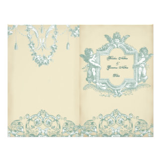 Georgiana (Cream) Bi-fold Wedding Programme