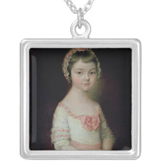Georgiana Spencer Silver Plated Necklace