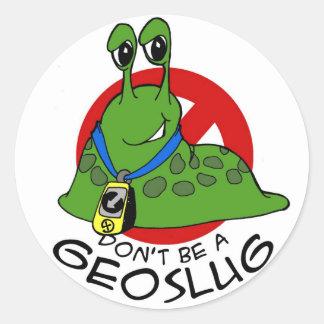 geoslug classic round sticker