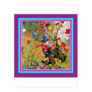 Geraniums Summer Flowers Garden by Sharles Postcard