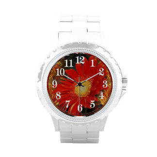 Gerber Daisy and sunset Wristwatch