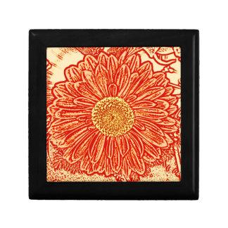 Gerbera Daisy Block Print - saffron orange Gift Boxes