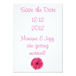 Gerbera Daisy Save the Date 13 Cm X 18 Cm Invitation Card