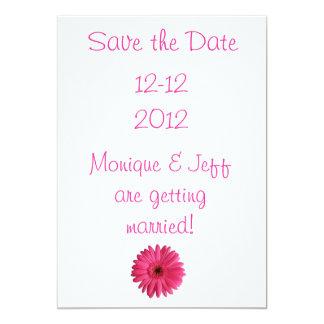 Gerbera Daisy Save the Date 13 Cm X 18 Cm Invitation Card