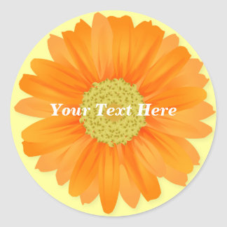 Gerbera Daisy Yellow & Orange Customizable Sticker