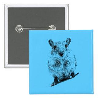 Gerbil Animal Baby Illustration Pet Gerbils 15 Cm Square Badge