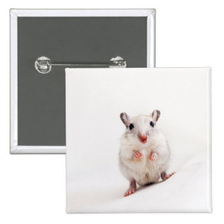 Gerbil Baby Animal Cute Pet Gerbils Template 15 Cm Square Badge