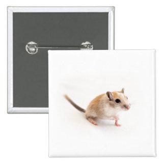 Gerbil Cute Baby Animal Pet Gerbils Template 15 Cm Square Badge