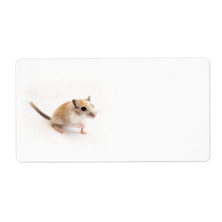 Gerbil Cute Baby Animal Pet Gerbils Template Shipping Label