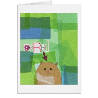 Gerbil Greeting Card