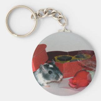 Gerbil In Love Keychain