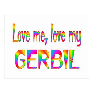 Gerbil Love Post Card