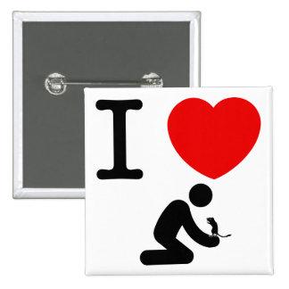 Gerbil Lover Pinback Buttons