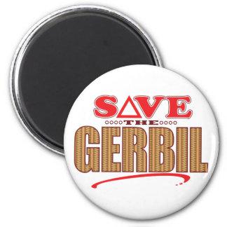 Gerbil Save 6 Cm Round Magnet