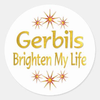 Gerbils Brighten My Life Round Sticker