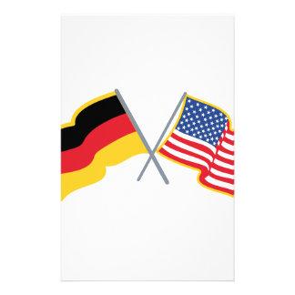 German American Flags Stationery