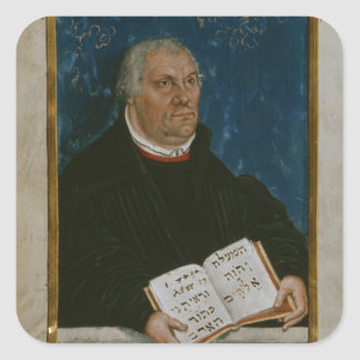 German Bible of Luther's Translation, 1561 Square Sticker