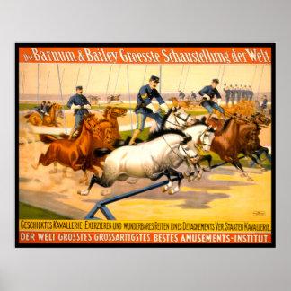 German Circus Advertisement Vintage 1900 Poster