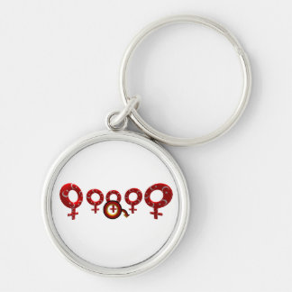 German Cuckold conclusion supporter Silver-Colored Round Key Ring