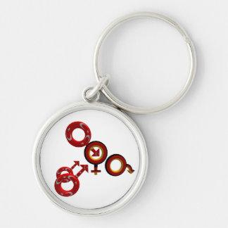 German Cuckold for Turkish Bulls Schlüsselanh Silver-Colored Round Key Ring