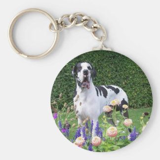 German Dogge, great dane, Hunde, Dogue Allemand Key Ring