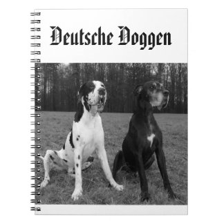 German Dogge, great dane, Hunde, Dogue Allemand Spiral Notebook