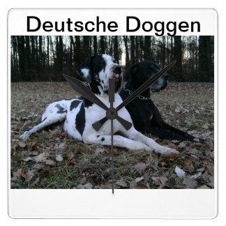 German Dogge, great dane, Hunde, Dogue Allemand Wallclocks