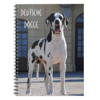 German Dogge, great dane, Hunde, Harlekin Note Book