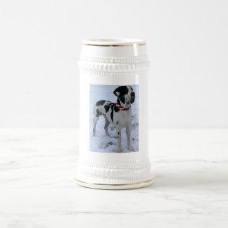 German Dogge, great dane, Hunde, Weihnachten Beer Steins