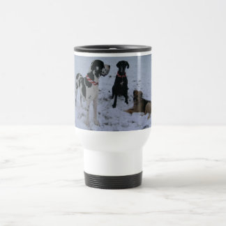 German Dogge, great dane, Hunde, Weihnachten Stainless Steel Travel Mug