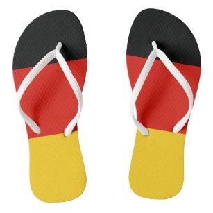 German flag beach flip flops for men and women