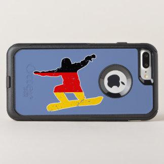 German flag SNOWBOARDER (wht) OtterBox Commuter iPhone 8 Plus/7 Plus Case