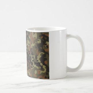 German Flecktarn Camo Basic White Mug