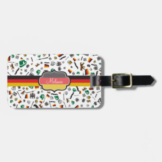 German items with Flag of Germany Luggage Tag