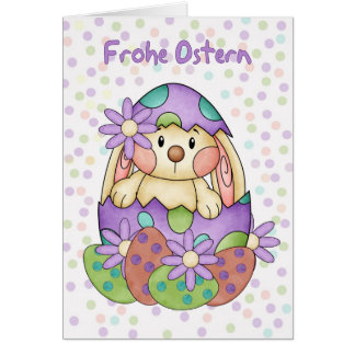 German Language Easter Card - Frohe Ostern