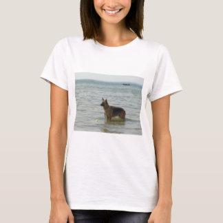 German Shepherd at the Beach T-Shirt