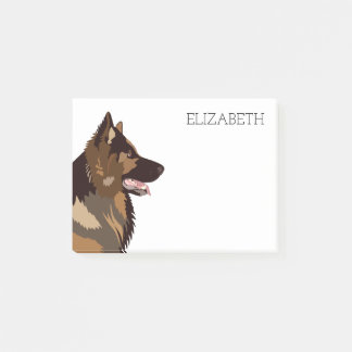 German Shepherd | Cute Pet Dog Post-it Notes