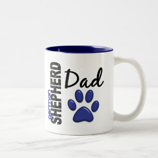 German Shepherd Dad 2 Two-Tone Coffee Mug