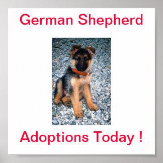 German Shepherd Dog Adoptions Today Sign