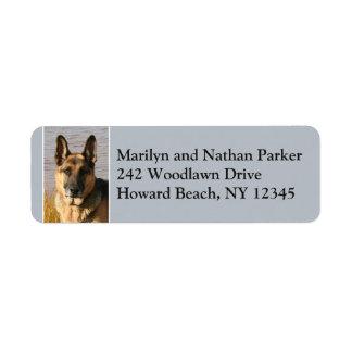 German Shepherd Dog Face Return Address Label 2