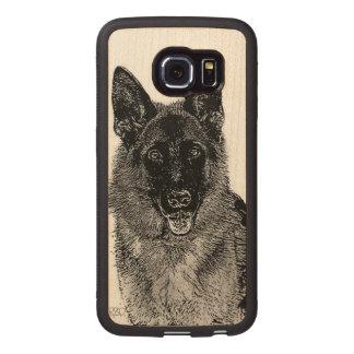 German Shepherd dog Wood Phone Case