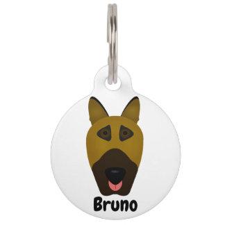 German Shepherd emoji dog identification tag