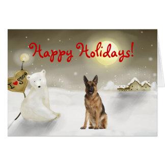 German Shepherd Holiday Card