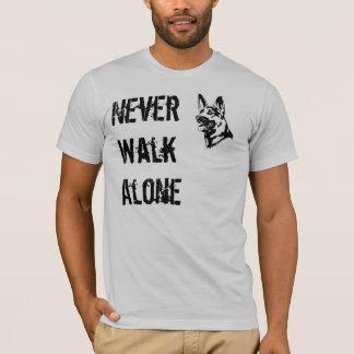 German Shepherd Rescue T-shirt Never Walk Alone